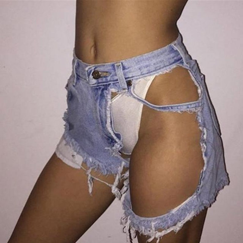 Land of Nostalgia High Waist Wide Leg Flared Trousers Denim Jeans