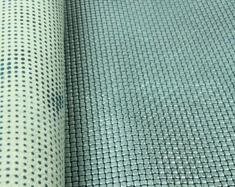 SHINY SILVER  braided 3D texture leather sheets / textured silver designed leather pre-cut pieces. 3D pattern beautiful leather sheets