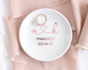 Ring Holder for her Gift Under 15 Cute Peronalized Initial Ring Dish
