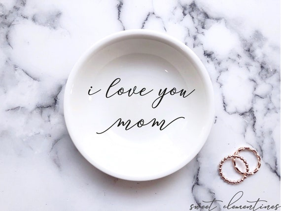 Gifts for Her  Personalized Ring Dish  Personalized Jewelry Dish  Mother/'s Day Gift  Gifts for Mom  Personalized Gift  Meaningful Gift