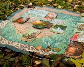 Cauldron, Altar Cloth, Celtic Cross Tarot and Oracle Card Spread Cloth