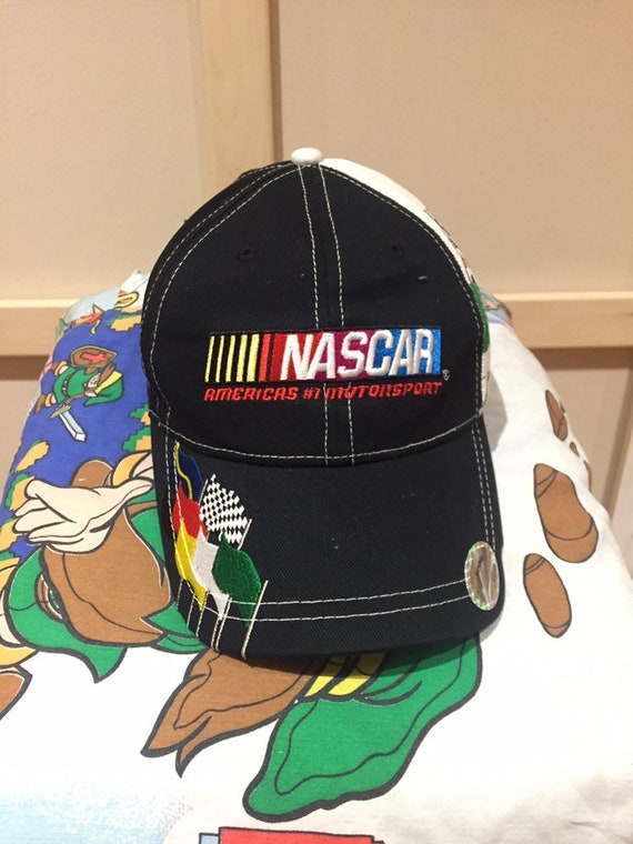 1990s Vintage NASCAR Racing Sports Velcro Hat - 19