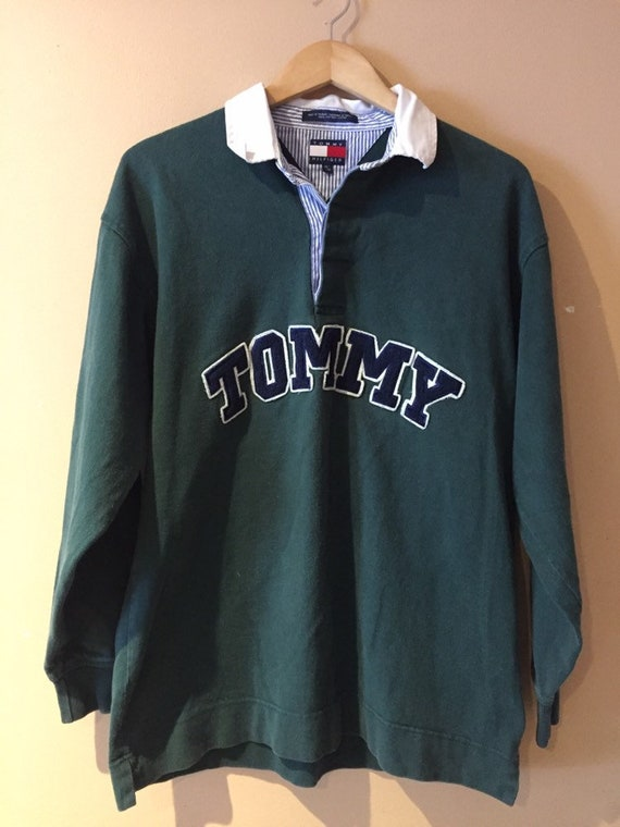 1990s Vintage TOMMY HILFIGER Polo Rugby Shirt | 90