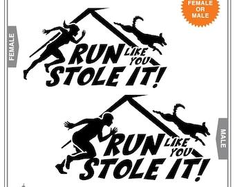 Run Like You Stole It!: Dog Agility, Agile Dog, Agility Dog, Dog Sports, Dog Decal, Car Window Decal, Car Window Stickers