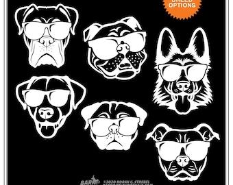 Dogs in Sunglasses Car Window Decal: Dog Life, Doggo Sticker, Cool Dog, Dog Car Window Sticker, water bottle sticker, laptop sticker