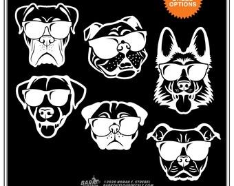 Dogs in Sunglasses: Dog Life, Doggo Sticker, Cool Dog, Dog Car Window Sticker, water bottle sticker, laptop sticker