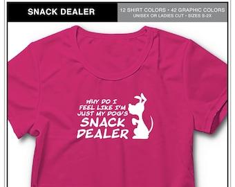 Dog's Snack Dealer: Dog Lover T-shirt, dog training shirt, dog show shirt, Shirt for Dog People
