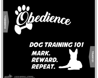 Dog Obedience Stickers:, Dog Sports, Good Dog, Car Window Sticker, Gift for Dog Lover, Window Decal, Laptop Decal, Dog Car Window Sticker