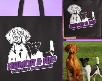 Custom Graphic Tote Bag made from your Dog's Photo: Custom Dog Tote Bag, Dog Agility Tote, Dog Photo Tote, PersonalizedTote Bag