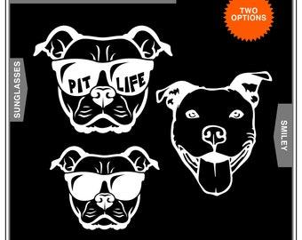 PitBull, American Pitbull Terrier, AmStaff, Pitties: Dog Car Window Decal, Car Window Sticker, Water Bottle Sticker, Laptop Sticker
