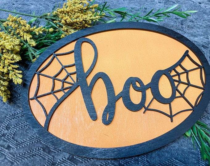 Halloween Decor, Wooden Halloween Decor, Halloween Sign, Unique Home Decor, Boo Decor, Unique Halloween Decor, Choose your background