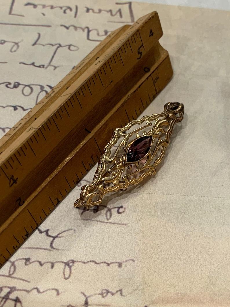 Antique Amethyst Baroque Brooch