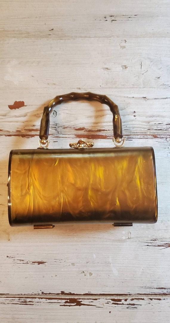 Vintage Walborg Lucite Box Purse