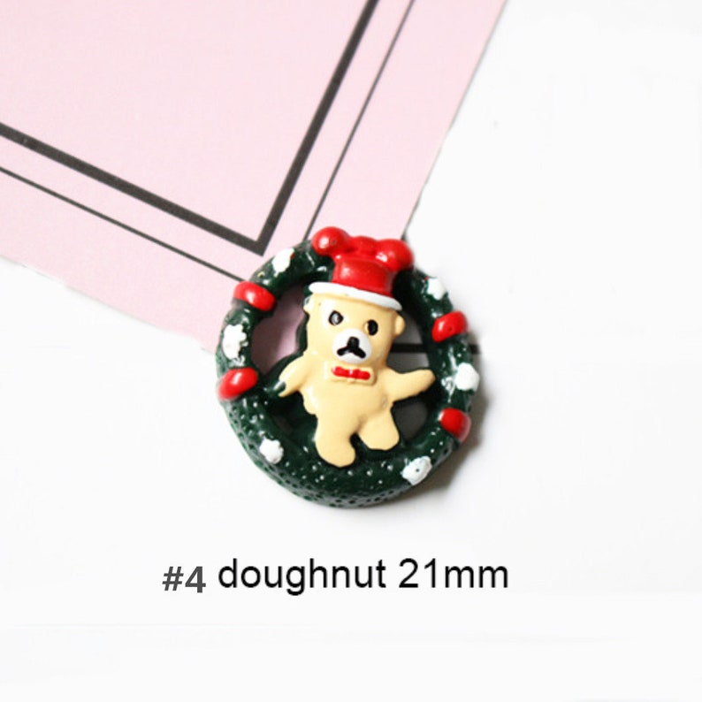 5102050pcs   resin christmas snowman cookies tree Kawaii  cabochon  flat back  Decoden  DIY 25mm