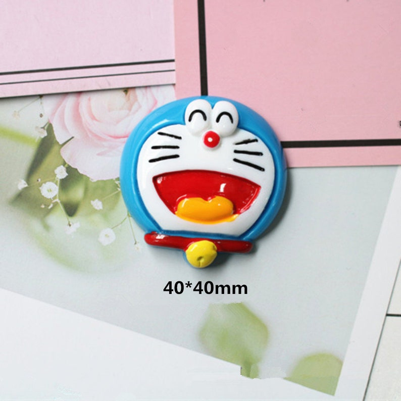 2PCS  resin large Doraemon Kawaii  miniature cabochon  flat back  Decoden  DIY