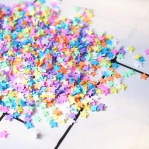 100g  polymer clay star sprinkles Kawaii  miniature cabochon  flat back  Decoden  DIY  embellishment mix