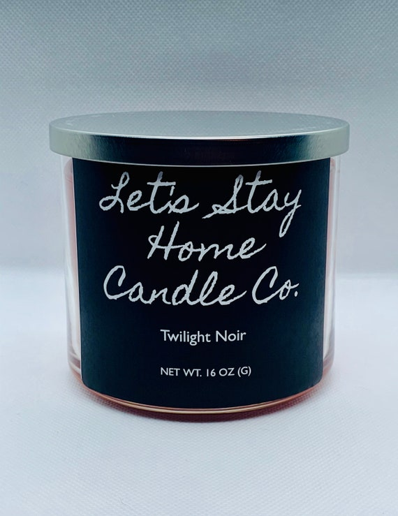 Twilight Noir Handmade Soy Candle // Large Candle // Three Wick Handcrafted