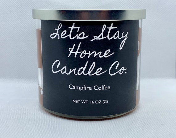 Campfire Coffee Handmade Soy Candle // Large Candle // Scented Soy Candle