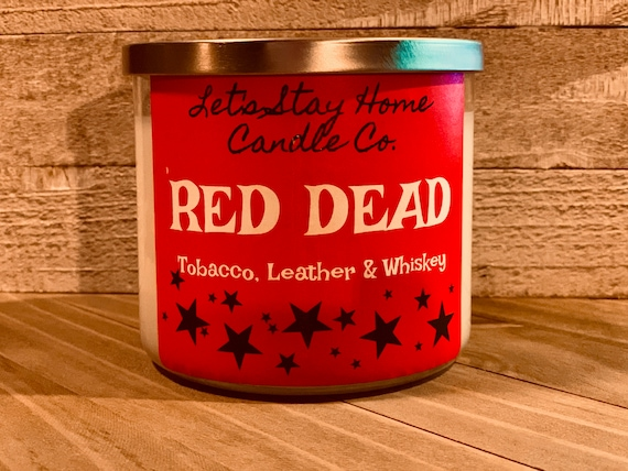 RED DEAD | Handmade Soy Candle | Tobacco | Leather | Whiskey | Scented Candles | RDR2 | Red Dead Redemption | Candles for Him