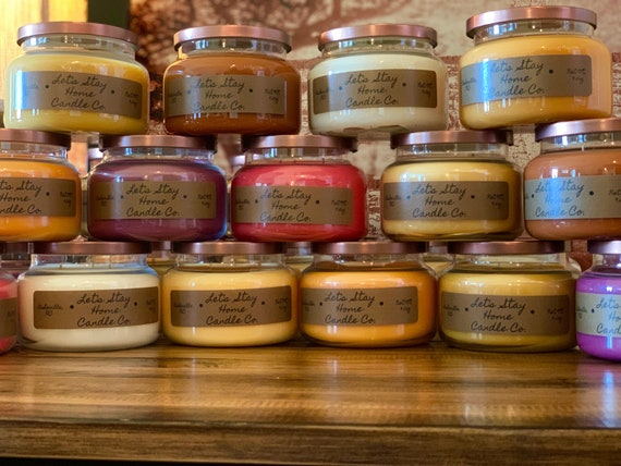 Handmade Soy Candles Variety Selection // Christmas Scented Candles