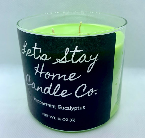 Peppermint Eucalyptus | Handmade Soy Candle | Massage Candle | Spring Candle | Three Wick Candle | Large Candle