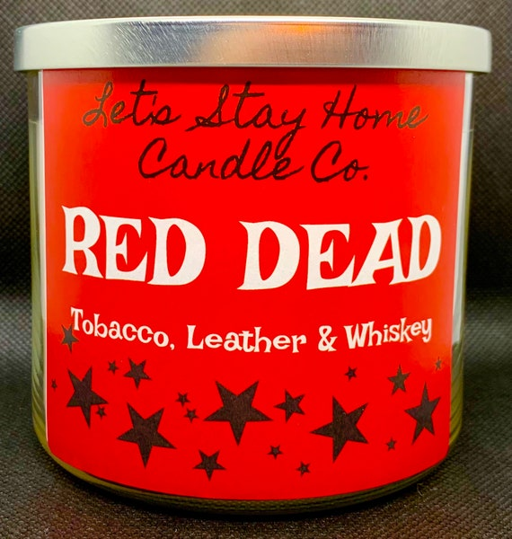 RED DEAD Soy Candle // Tobacco, Leather, Whiskey // RDR2