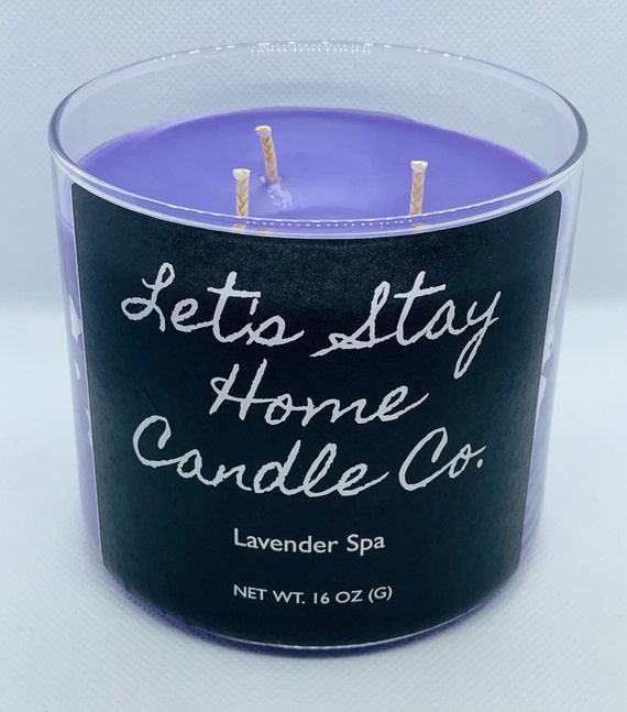 Lavender Spa | Handmade Soy Candle | Massage Candle | Spring Candles | Scented Candles | Large Candle