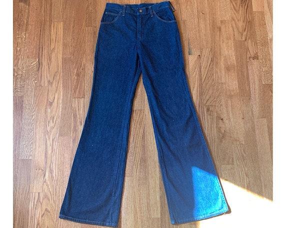 vintage 70s wrangler bellbottom jeans