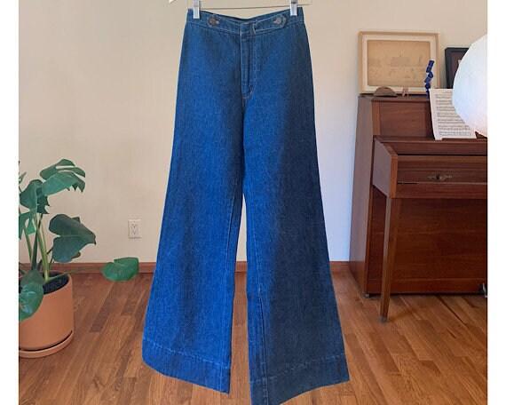 Vintage 70s Chemin De Fer Bellbottom Jeans