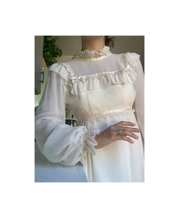 Vintage 1970s Victorian Mini Dress