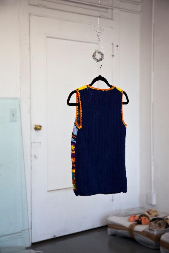 I. Magnin Rainbow Crochet Vest - image 4