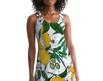 Women's Racerback Dress Lemon Olives