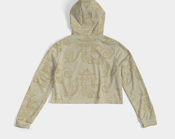 Women's Cropped Hoodie Waves and Pavilion