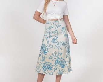 Women's A-Line Midi Skirt Qing Dynasty