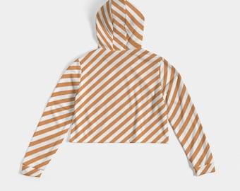 Women's Cropped Hoodie Orange Flavor