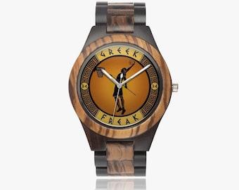 The Greek Freak  Unisex Ebony Wooden Watch