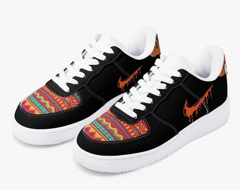 Aztec Airforce One Brooklyn Low-Top Leather Sports Sneakers