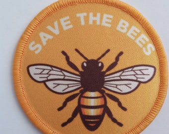 Underpants Save the bees Iron On Patch