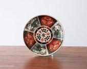 Vintage Imari Plate from Heritage Mint, Japan, Rickshaw, Chinoiserie Decor, Black and Red Imari Plate