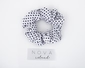 Black and white polka dot scrunchie - MOLLY