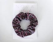 Black floral scrunchie - LOUISE