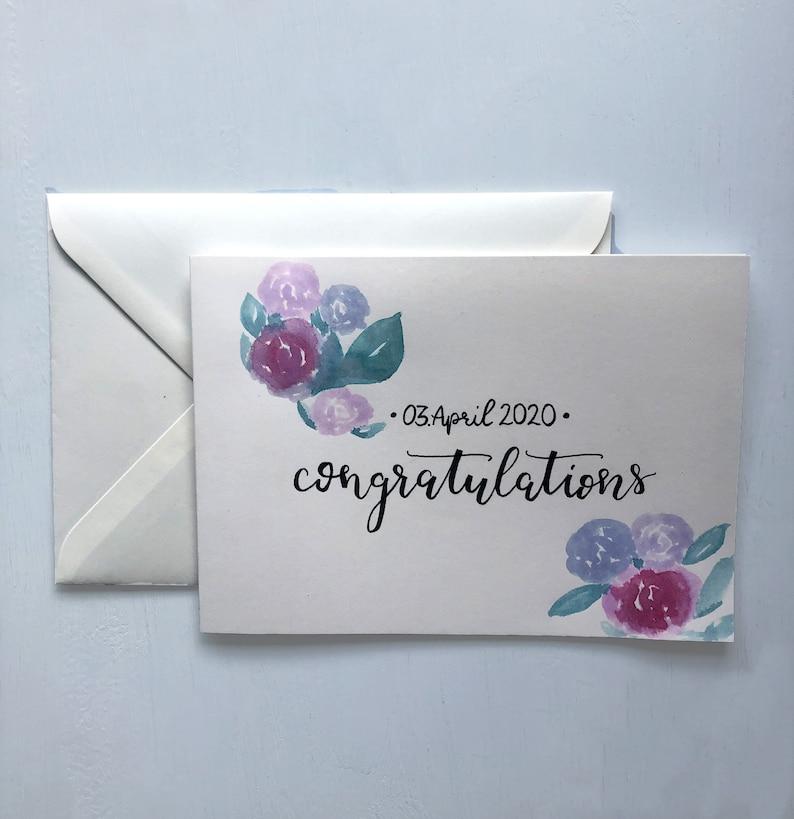 Congratulations Hochzeitskarte