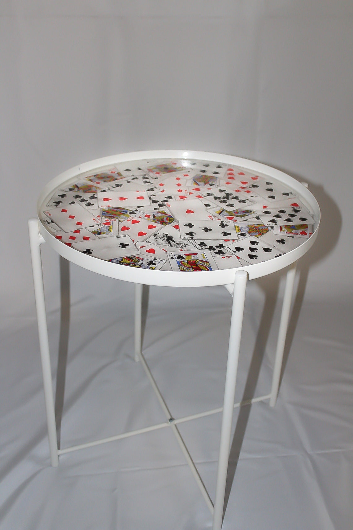 Vintage Playing Cards Tray Table