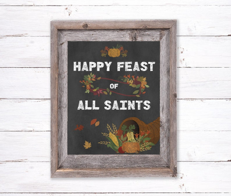 TWO COLORS: All Saints Day Printable Feast of All Saints image 0
