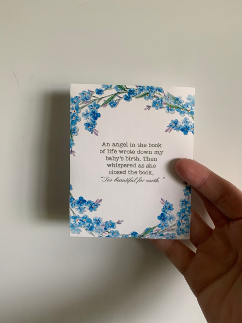 Angel in the Book of Life Quote Loss of Child Miscarriage image 0