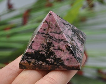 Large rhodonite heart self love confidence caring rhodonite chakra stone kindness