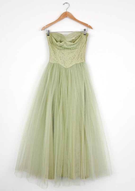 Spring Greens Pastel Party Prom Lace and Tulle Dre
