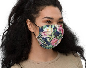Cabbage Roses Face Mask