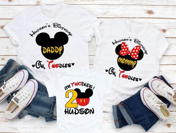 Mickey Mouse Shirt 2nd Birthday Shirt for Boy Custom Mickey Mouse Birthday Shirt for Boys I\u2019m Twodles Birthday Shirt