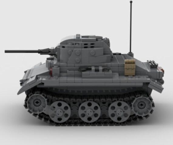 Instruction WW2 MOC German Tiger Tank US USSR Custom Set by Buildarmy® Bricks
